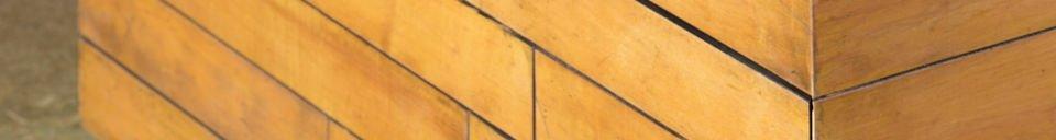Mise en avant matière Table basse Sheffield carrée