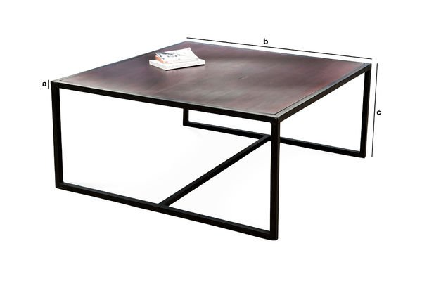 Dimensions du produit Table basse Smoke
