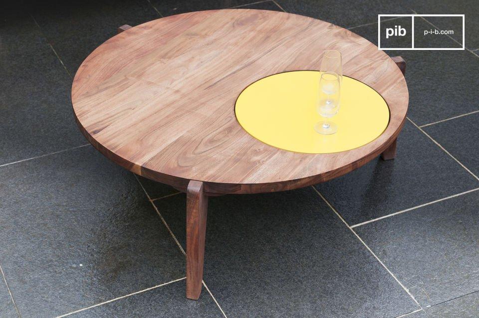 Table basse Stockholm tripode jaune