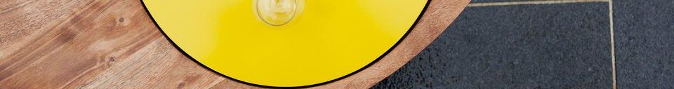 Mise en avant matière Table basse Stockholm tripode jaune