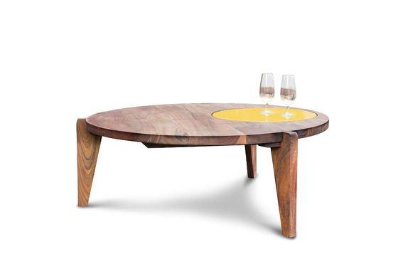 table basse stockholm tripode jaune pib. Black Bedroom Furniture Sets. Home Design Ideas