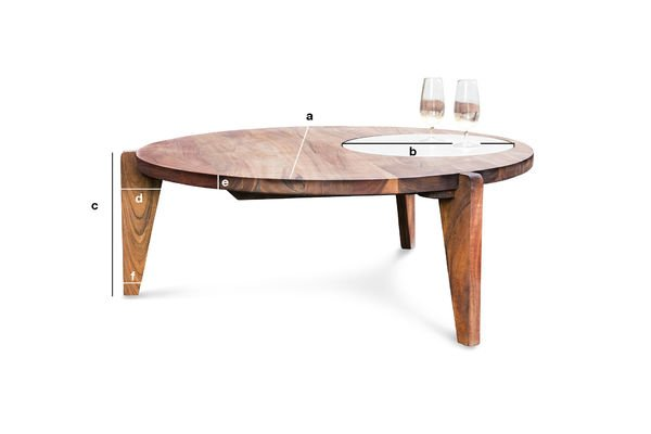 Dimensions du produit Table basse tripode Stockholm