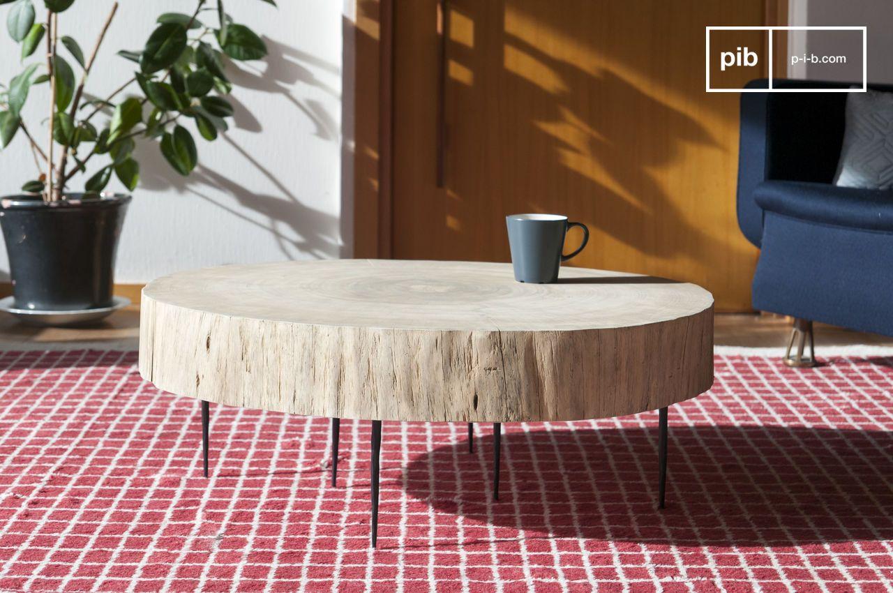 Table Basse Avec Souche D Arbre table basse tronc d'arbre natural luka