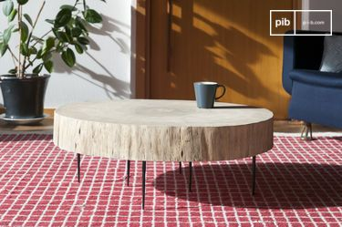 Table basse tronc d'arbre Natural Luka