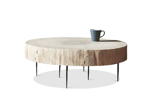 table basse tronc d 39 arbre natural luka bois 100 naturel pib. Black Bedroom Furniture Sets. Home Design Ideas