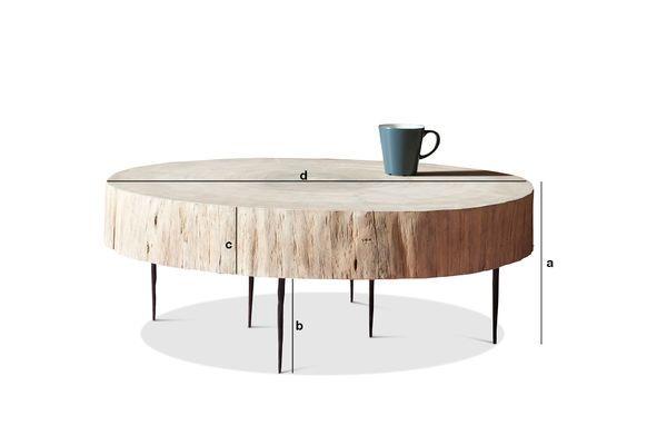 table basse tronc d 39 arbre natural luka bois 100 naturel pib. Black Bedroom Furniture Sets. Home Design Ideas