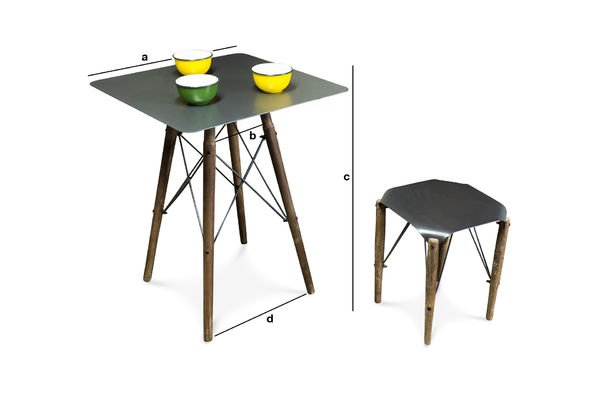 Dimensions du produit Table bistrot Bender