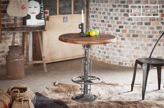 Table bistrot en teck réglable Salvage