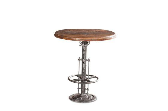Table bistrot en teck réglable Salvage Détouré