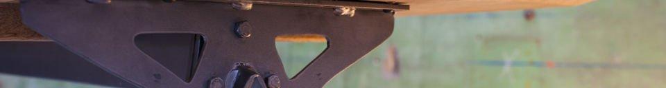 Mise en avant matière Table bois et métal Jetson