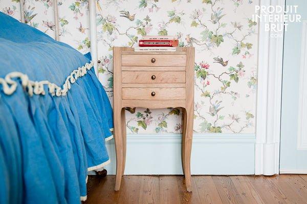 Table de chevêt en bois massif