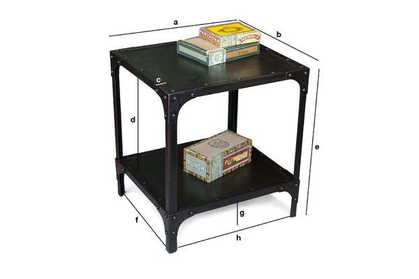Dimensions du produit Table d'appoint à rivets