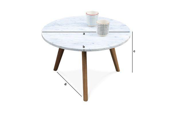 Dimensions du produit Table d'appoint Briët