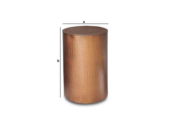 Dimensions du produit Table d'appoint cuivrée Thomson