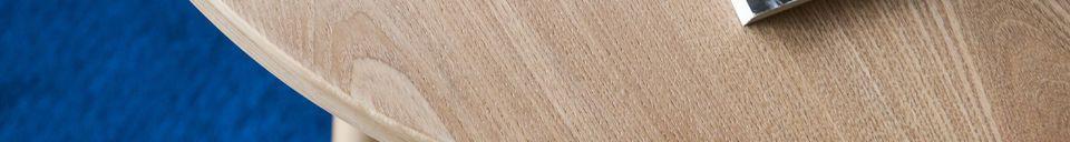 Mise en avant matière Table d'appoint en bois Estrella