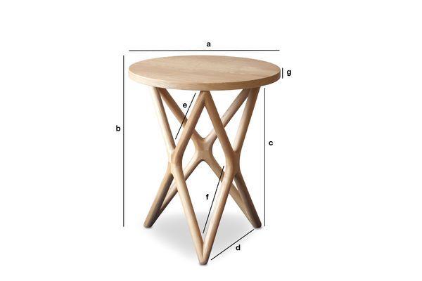 Dimensions du produit Table d'appoint en bois Estrella
