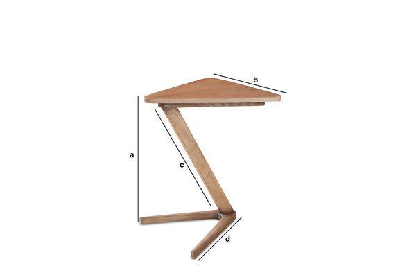 Dimensions du produit Table d'appoint en bois Fleetwood