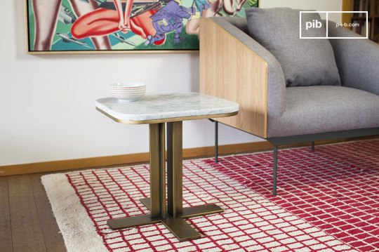 Table d'appoint scandinave en marbre carrera
