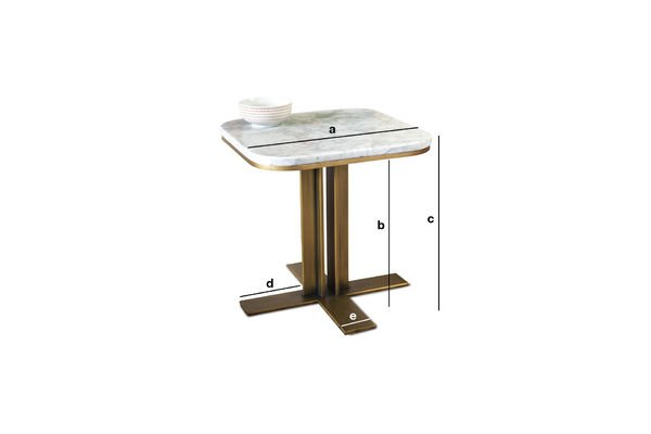 Dimensions du produit Table d'appoint en marbre Carrera