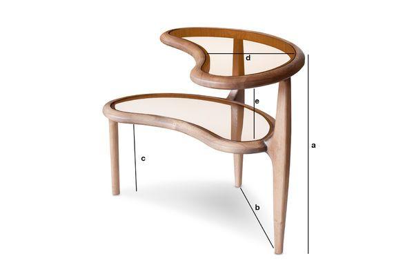 Dimensions du produit Table d'appoint haricot Double Bean