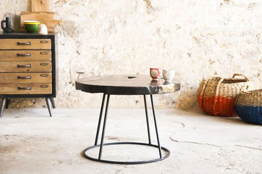 Table d'appoint ronde mina