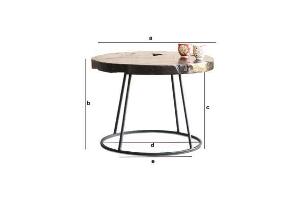 Dimensions du produit Table d'appoint Mina
