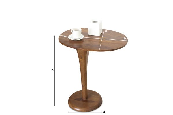 Dimensions du produit Table d'appoint monopied Piwy