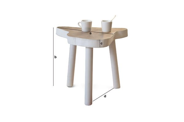 Dimensions du produit Table d'appoint Nederland