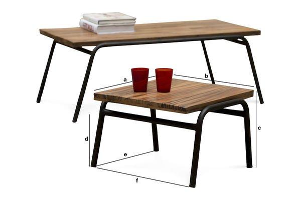 Dimensions du produit Table d'appoint Regular