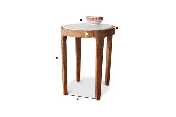 Dimensions du produit Table d'appoint ronde Marmori