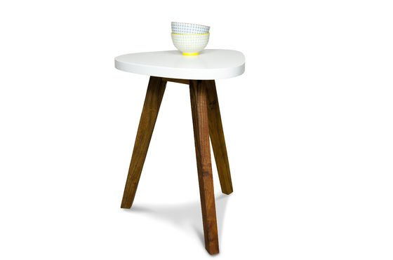 Table d'appoint Stockholm blanche Détouré