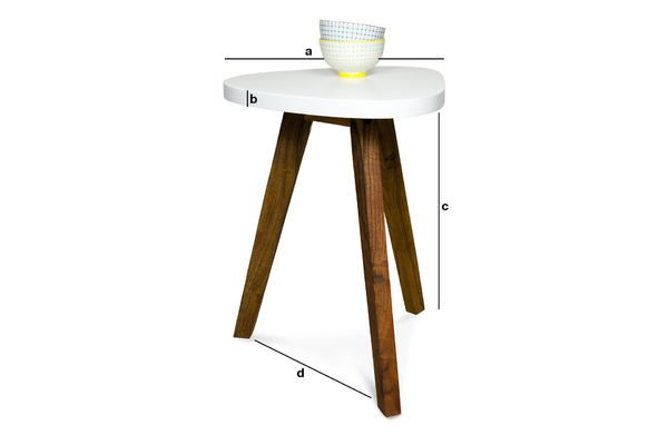 Dimensions du produit Table d'appoint Stockholm blanche