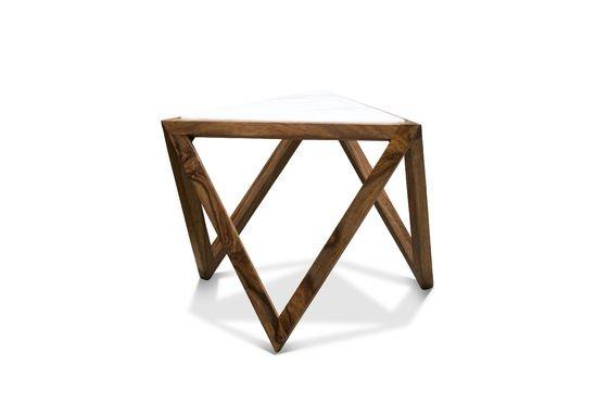 Table d'appoint triangulaire Marmori Détouré