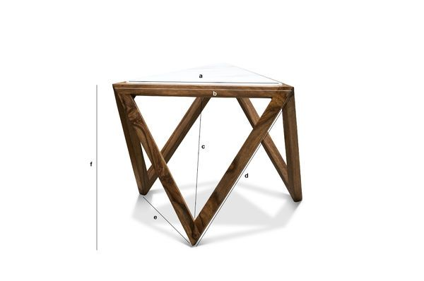 Dimensions du produit Table d'appoint triangulaire Marmori
