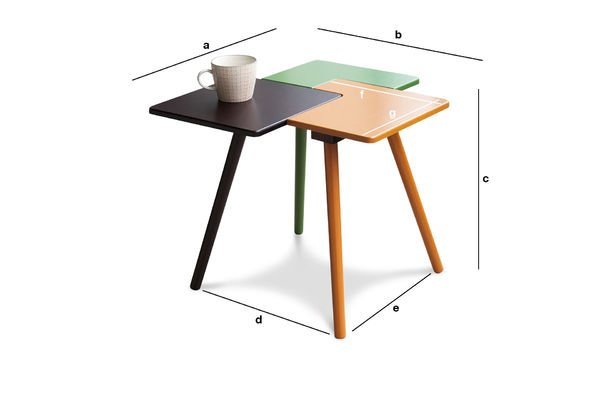 Dimensions du produit Table d'appoint Tridy