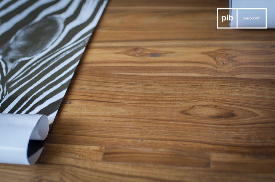 Une table modulable associant style industriel vintage et bois noble