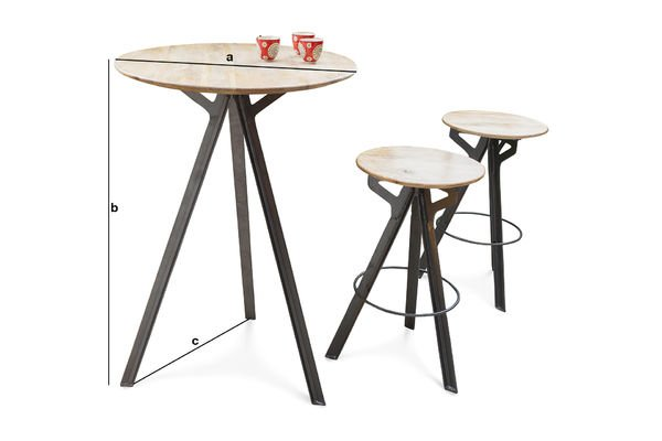 Dimensions du produit Table de bar Jetson