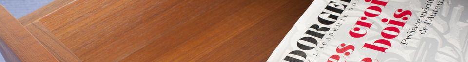 Mise en avant matière Table de chevet à tiroir Lathen