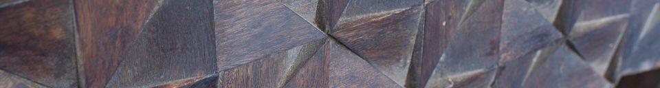 Mise en avant matière Table de chevet en bois Balkis