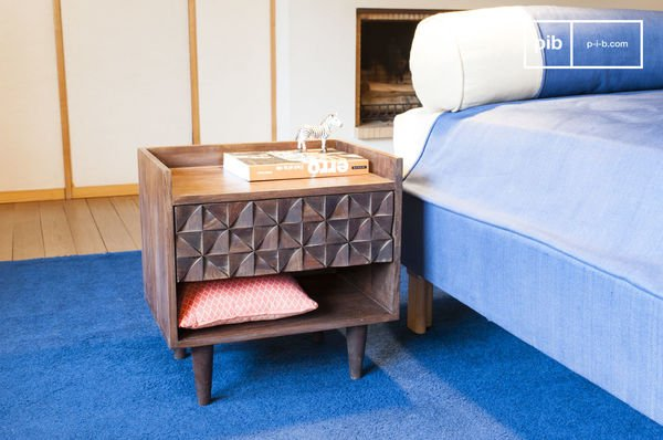 Table de chevet en bois Balkis