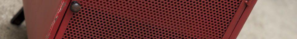 Mise en avant matière Table de chevet industrielle Minoterie