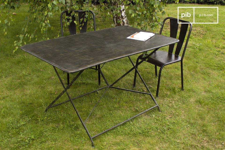 Table de jardin Compiègne - Table pliante 100% métal | pib