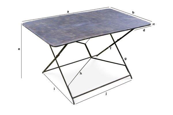 Dimensions du produit Table de jardin Compiègne