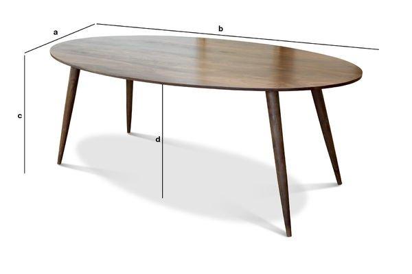 Dimensions du produit Table de repas Bikhatz