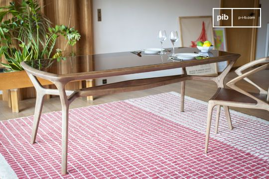 Table de repas bois et verre Dagsmark