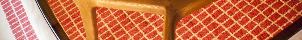 Mise en avant matière Table de repas bois et verre Dagsmark