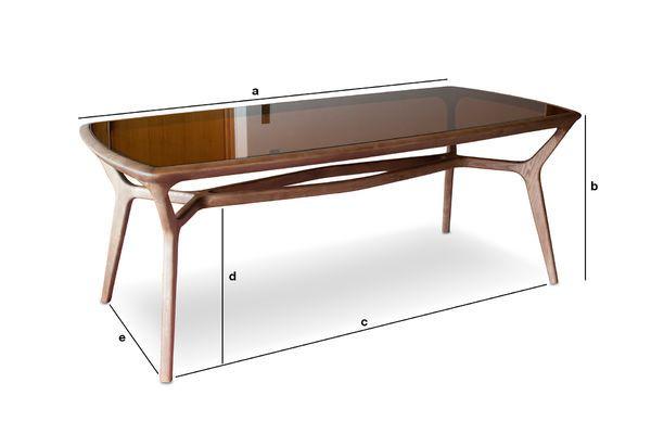 table de repas bois et verre fum dagsmark lignes vintage. Black Bedroom Furniture Sets. Home Design Ideas