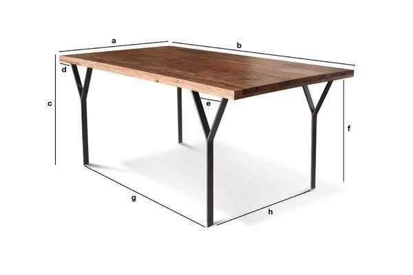 Dimensions du produit Table de repas Mabillon