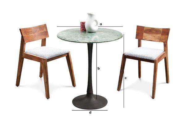 Dimensions du produit Table de repas Marble