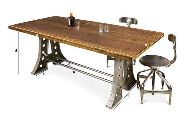 Dimensions du produit Table de repas Normandie